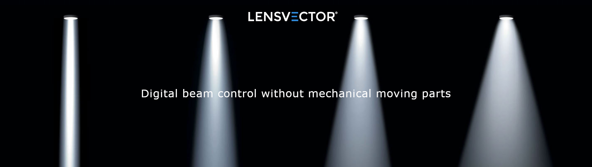 Digital control of the LED light beam using LensVector technology