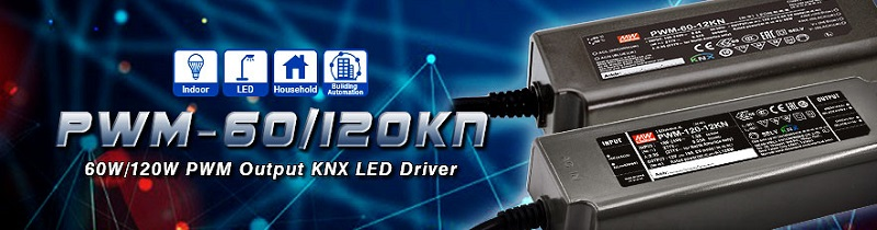 Driver LED Mean Well con protocollo KNX integrato