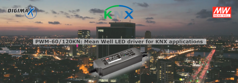 PWM-KN LED driver Mean Well for KNX applications