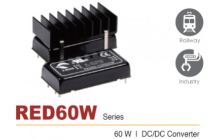 News from P-Duke: RED60W DC/DC converter for the railway industry