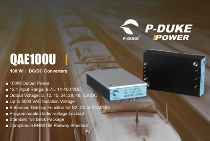 New QAE100U series: DC/DC Converters for Railway Applications by P-DUKE