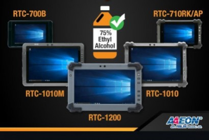 Rugged AAEON Tablet for waterproof industrial applications
