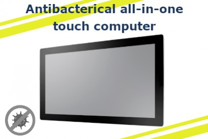 Touch computer all-in-one dotato di vetro antibatterico Corning Gorilla Glass