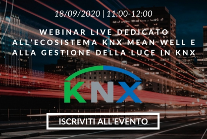 Webinar dedicated to the KNX Mean Well ecosystem and light management with KNX