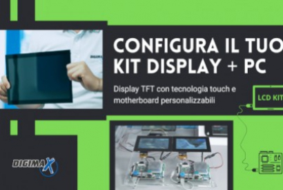 Customisable TFT display kit and PC motherboard for industrial applications