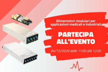 Webinar dedicated to modular power supplies for medical/industrial applications