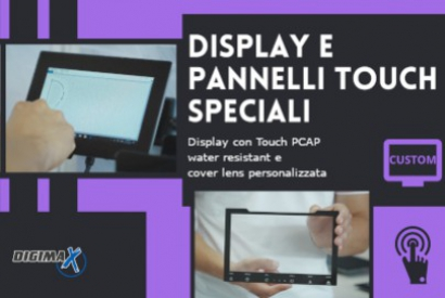 Special displays and touch panels for industrial applications