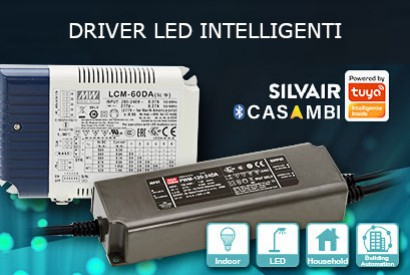 LED drivers with Casambi and Bluetooth mesh module dedicated to smart lighting