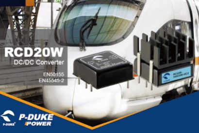 DCDC converter P-Duke RCD series 10W, 15W and 20W for railway projects