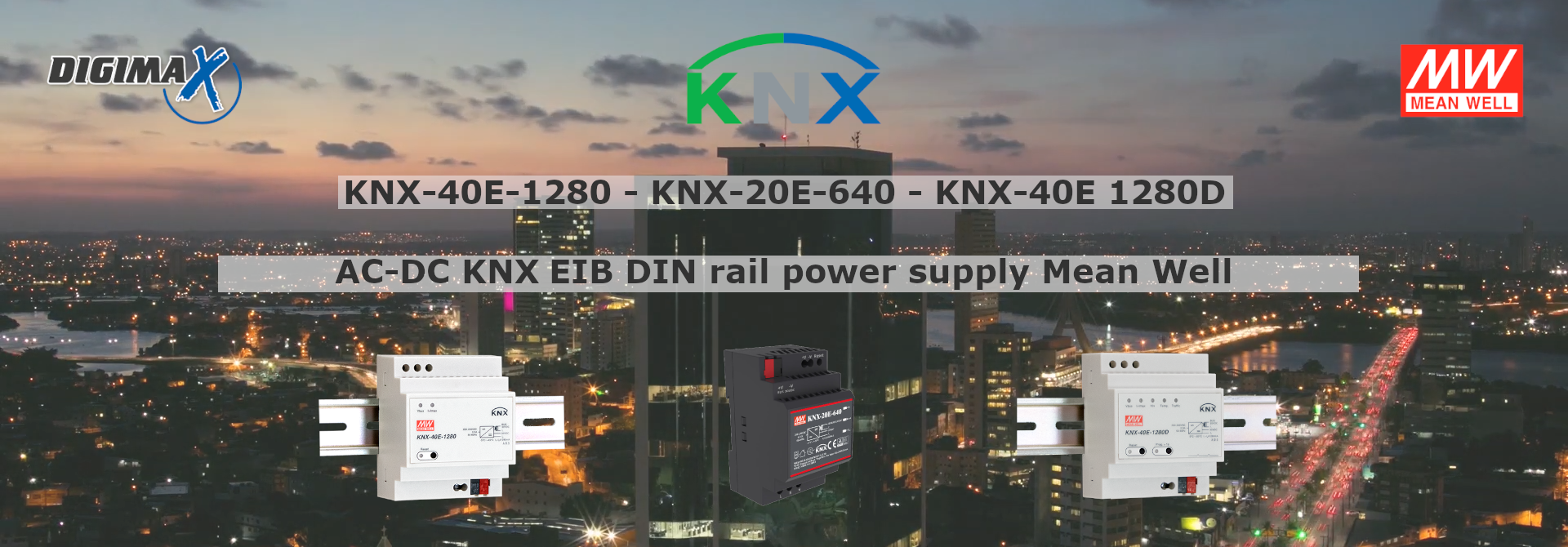 Mean Well bus KNX power supplies for home automation and smart building applications